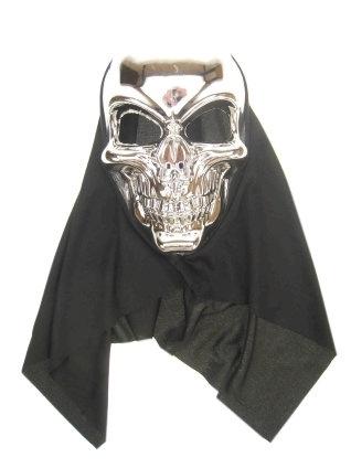Doodshoofd masker zilver