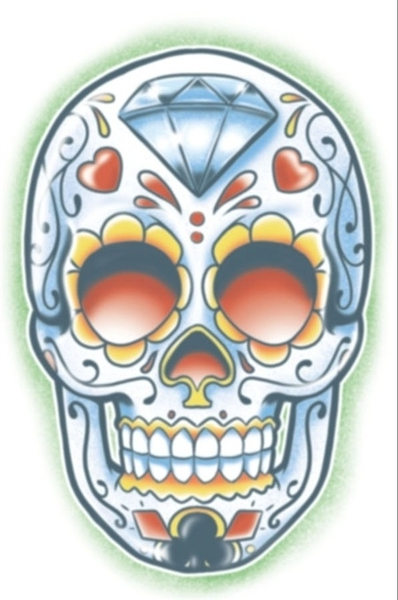 Day of the dead tattoo Jugador