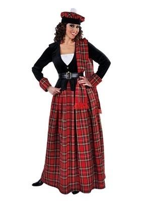 Compleet Schotse jurk lang