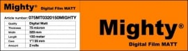 Mighty rolfilm voor autolaminator en rollaminator 75 micron mat.