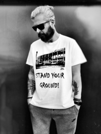 "Men's T-Shirt ""Stand your ground!"""