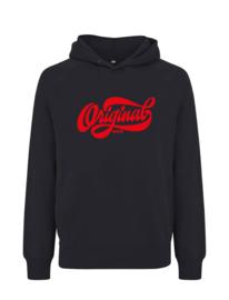 Amsterdam original puffed hoodie, zwart rood