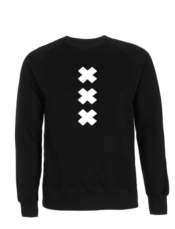 XXX puffed crewneck , zwart wit