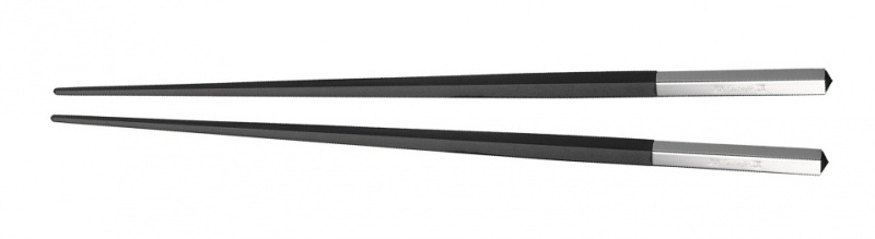 Christofle Japanse stokjes Uni Noir (1-paar)