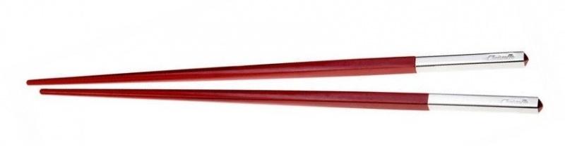 Christofle Japanse stokjes Uni Rouge (1-paar)