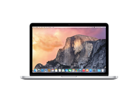 13-inch MacBook Pro met Retina-display: 2,7-GHz dual-core Intel Core i5, 128GB - Excl. 1173,00