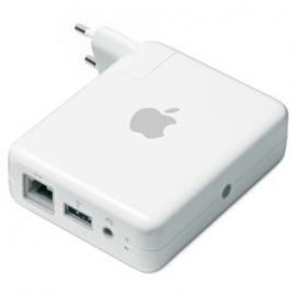 AirPort Express-basisstation met AirTunes