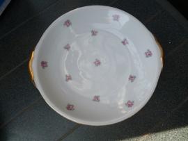 Petit four schaal Johan Vohenstrauss Elly met zacht roze enkele roosjes