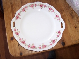 Gebakschaal Seltmann Weiden met roze bloemetjes rand