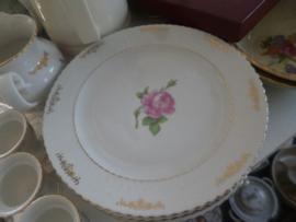 Ontbijtbordje Seltmann Weiden Elisabeth met roze roos