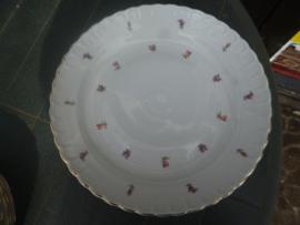 Mosa Grote ronde serveerschaal met strooi bloemetjes