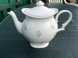 Koffiepot Cambridge met roze roosjes (Blokker)