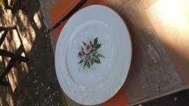 Gebaksbordje Seltmann Weiden Annabell  met rose roos en gipskruid
