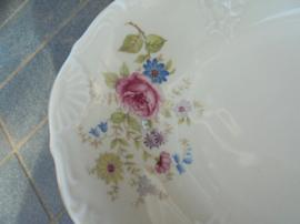 Broodschaal MOSA met lichtroze roos / bloemboeket