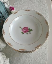 Diep bord Seltmann Weiden Elisabeth met roze roos