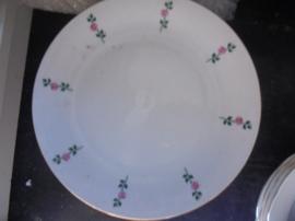 Dinerbord Seltmann Weiden met roze roosjes en een groen takje