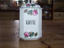 """Romantische voorraadpot """"Koffie"""" met oa. rose roosjes"""