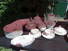 Koffiepot ZONDER DEKSEL Edelstein  Maria Theresia Bruin/grijs bloemboeket met oa. roos