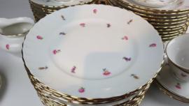 Ontbijtbordje MOSA met diverse bloemetjes / rose roosjes