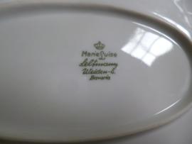 Ovale vleesschaal Seltmann Weiden Marie Luise met roze/rode roosjes grootste maat