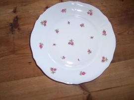 Ontbijt/Gebak/Dessertbordjes Mitterteich Bavaria rose/rode roosjes