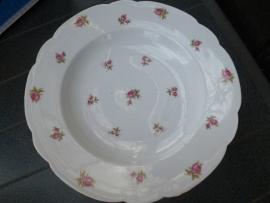 Seltmann Weiden INKA diep bord vol roze/rode roosjes