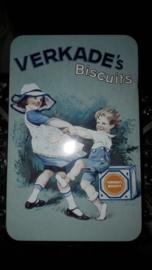 """Nostalgisch Verkade blik """"de meisjes van Verkade"""" lichtblauw"""