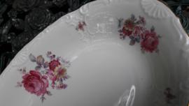 Broodschaal MOSA met rose bloemboeket/geel bloemetje/roze roos