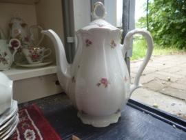 Koffiepot Bareuther Bavaria met roze roosjes