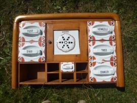 Kruiden / Voorraad rek / kast met bakken Art Deco Stijl