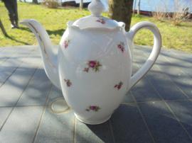 Koffiepot Winterling Bavaria met roze/rode roosjes