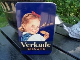 """Nostalgisch Verkade blik """"de meisjes van Verkade"""" donkerblauw"""