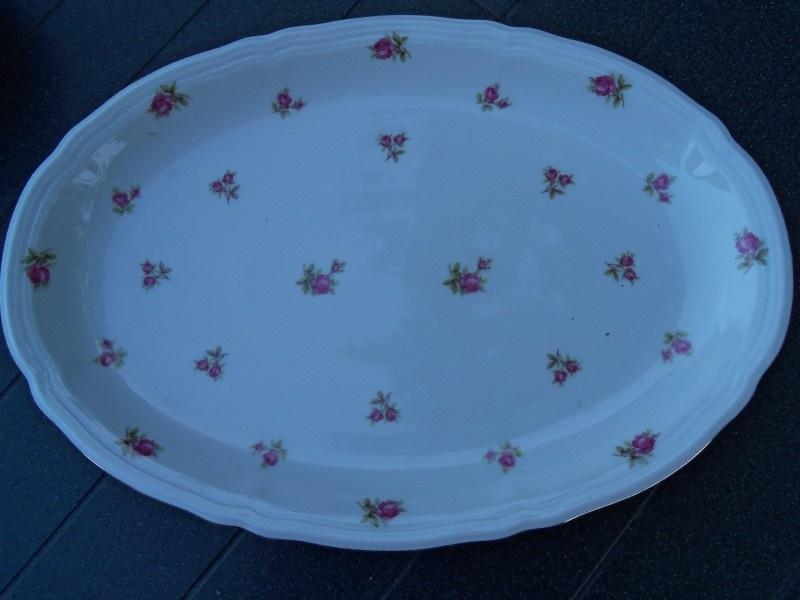 Ovale Vleesschaal Seltmann Weiden Marie Luise vol roze/rode roosjes
