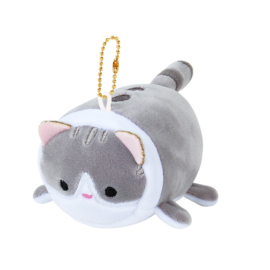 Plüschanhänger Soft Kawaii Cat - Grey
