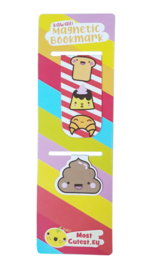 Magnetic bookmark set - Poo