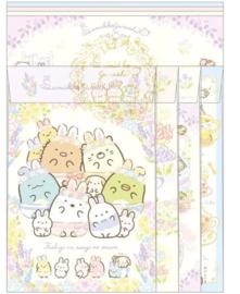 Briefpapierset San-X Sumikkogurashi - Fushigina Usagi No Oniwa