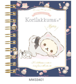 Notebook klein Korilakkuma cute cats blauw