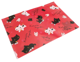 A4 Fileholder Kutusita Nyanko Red