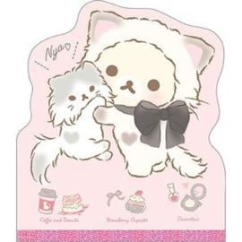 Haftnotizen groß San-X Korilakkuma cute cats rosa