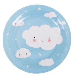 Papieren plates - cloud