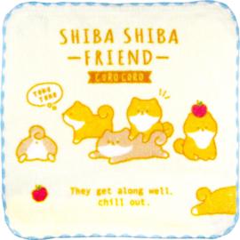 Mini Towel 21 x 21 cm Shiba Shiba friend