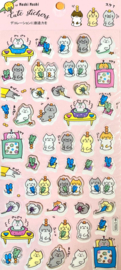 Stickersheet Seal Pink Cats