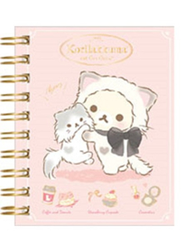 Notebook klein Korilakkuma cute cats roze