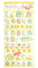 Stickersheet San-X Sumikkogurashi Puffy Shirokuma Corn Soup Yellow