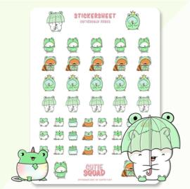 Stickersheet -Frog - CutieSquad