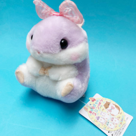 Amuse Koro Hamu Bow plush - paars - 13 cm