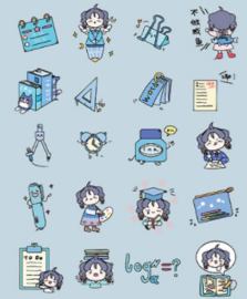 Stickerzakje Stickerflakes Schoolgirl Blue