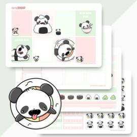 Planner Sticker Kit - Sushi Panda - CutieSquad