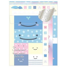 Briefpapierset San-X Jinbesan - Enjoy Yuttani Jinbe Life
