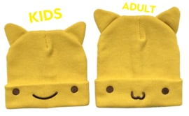 Kawaii MostCutest.nl Yellow CatEars Beanie Muts